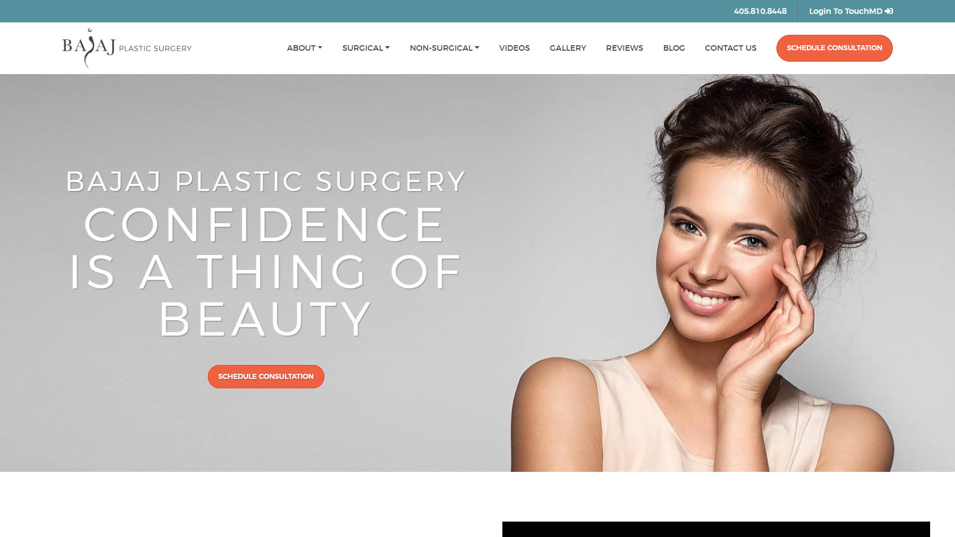 Bajaj Plastic Surgery Website Portfolio Image