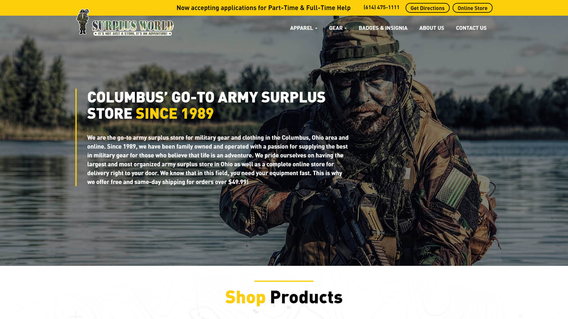 Surplus World Online Website Portfolio Image